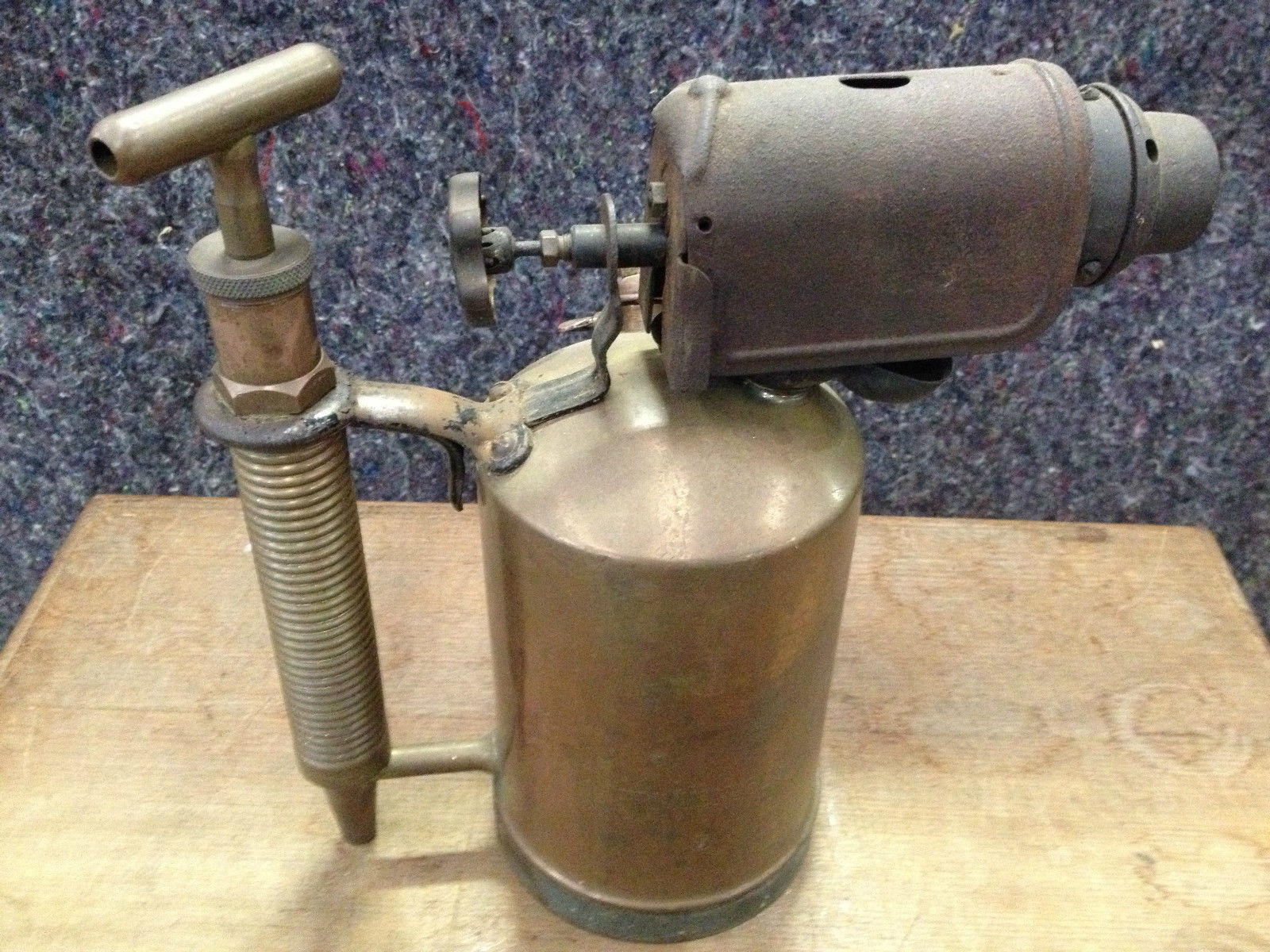 Antique Brass Primus Blow Torch Melbourne Halsey Road