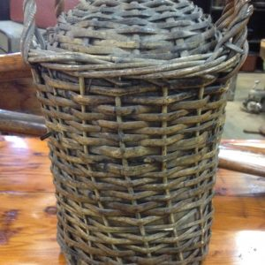 Large Vintage Antique Demijohn Jug Bottle In Wicker Cane Basker With Handles | Melbourne | Halsey Road Recyclers