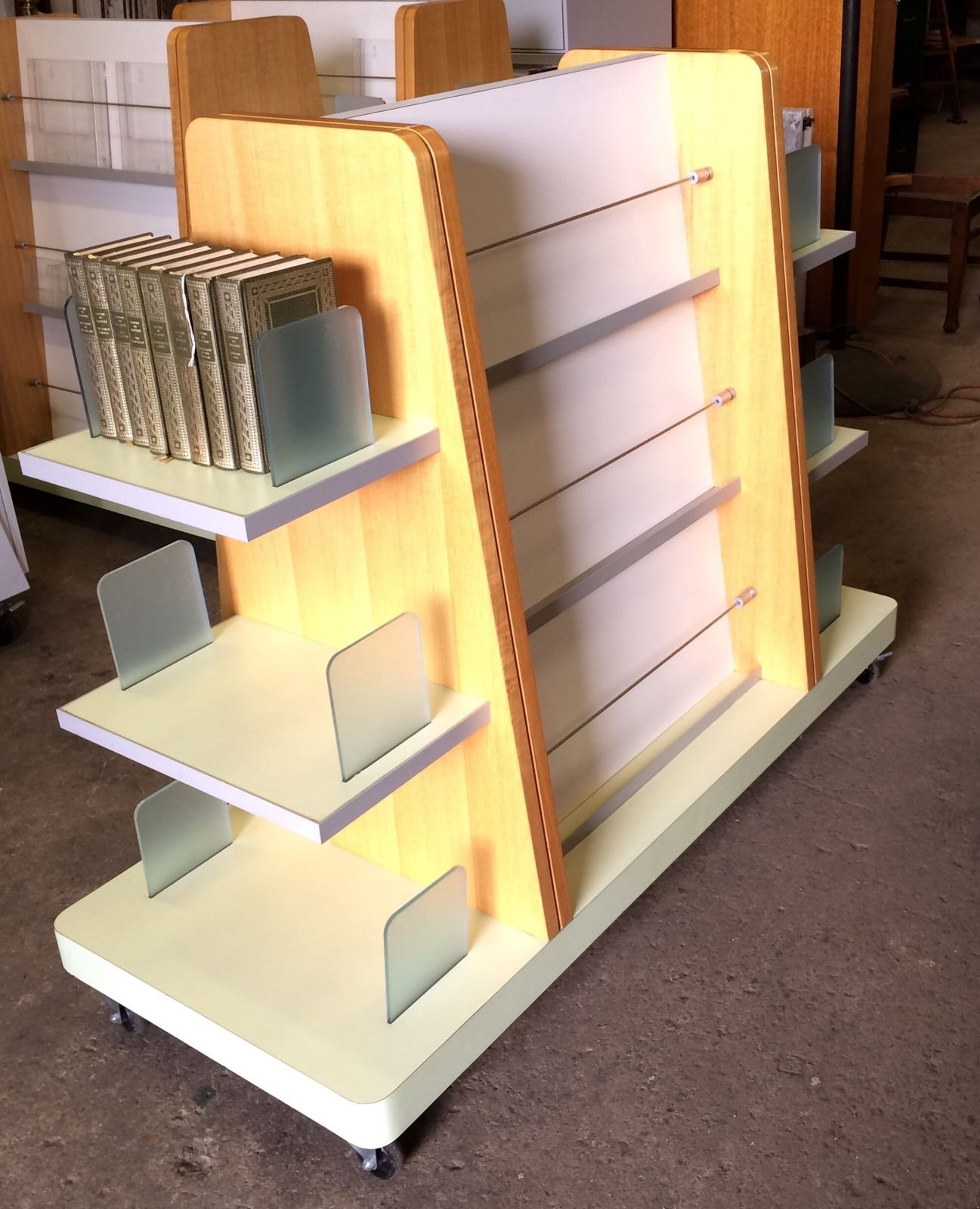curved double group bookcase office products sided line