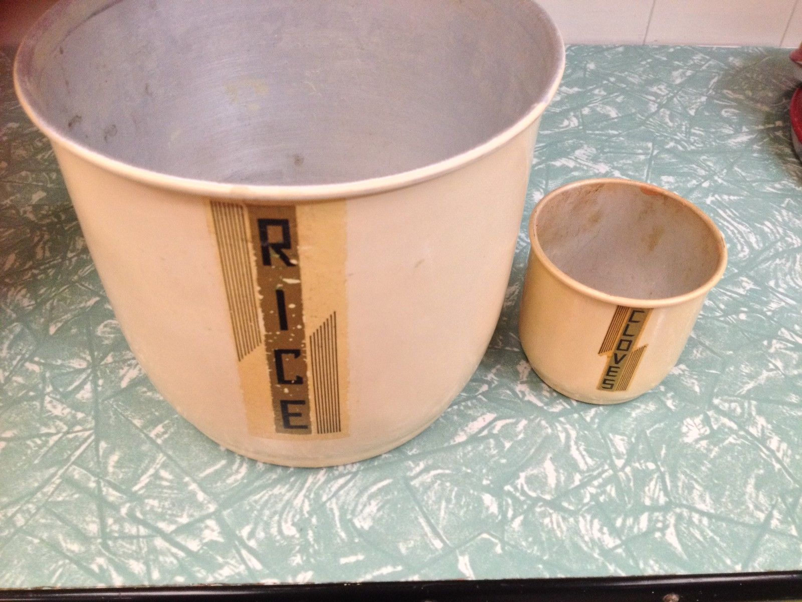 Set Of 4 Vintage Retro Aluminum Kitchen Canisters | Melbourne | Halsey Road Recyclers