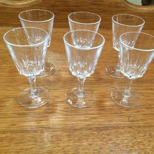 Set Of 6 Vintage Crystal Port Glasses | Melbourne | Halsey Road Recyclers