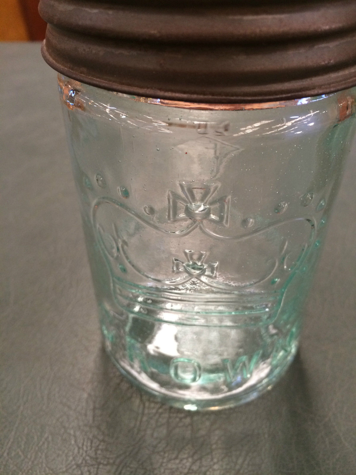 Vintage Crown Glass Mason Jar With Glass & Metal Lid Made In Canada | Melbourne | Halsey Road Recyclers