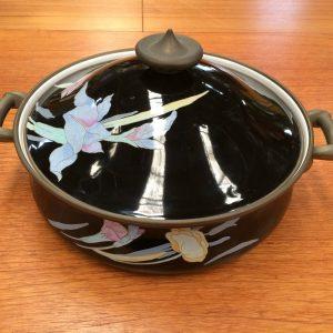 Vintage Mikasa Japan Grande Chef Charisma Black Enamel Casserole Dish Pot | Melbourne | Halsey Road Recyclers