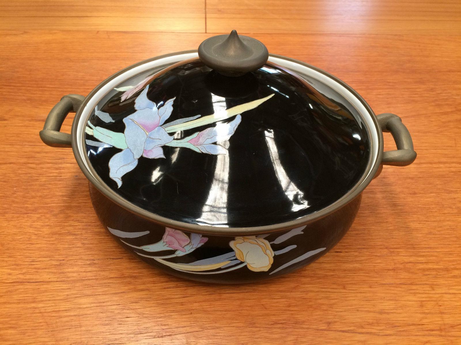 Vintage Mikasa Japan Grande Chef Charisma Black Enamel Casserole ...
