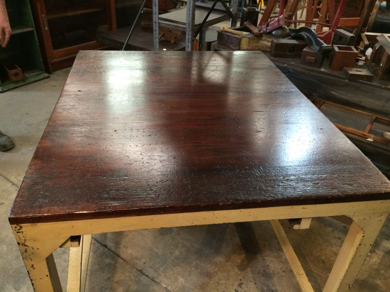 Vintage Industrial Rustic Table Work Bench | Melbourne | Halsey Road  Recyclers