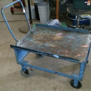 Industrial Vintage Original Warehouse Metal Trolley On Castor Wheels | Melbourne | Halsey Road Recyclers