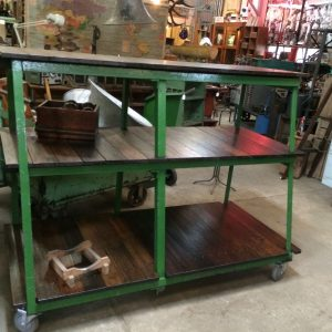Industrial Vintage Timber Rustic 3 Tier Shelving Bench Cafe Kitchen Unit | Melbourne | Halsey Road Recyclers