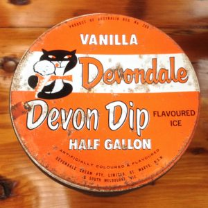 Vintage vanilla devondale flavoured ice cream half gallon tin | Melbourne | Halsey Road Recyclers