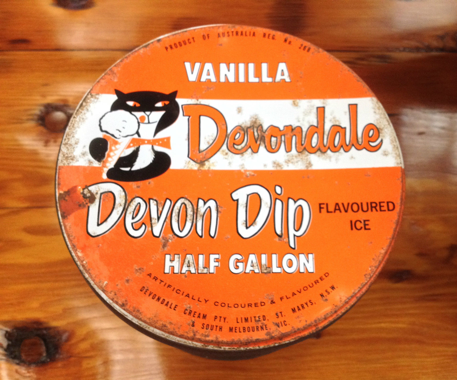 Vintage Vanilla Devondale Flavoured Ice Cream Half Gallon