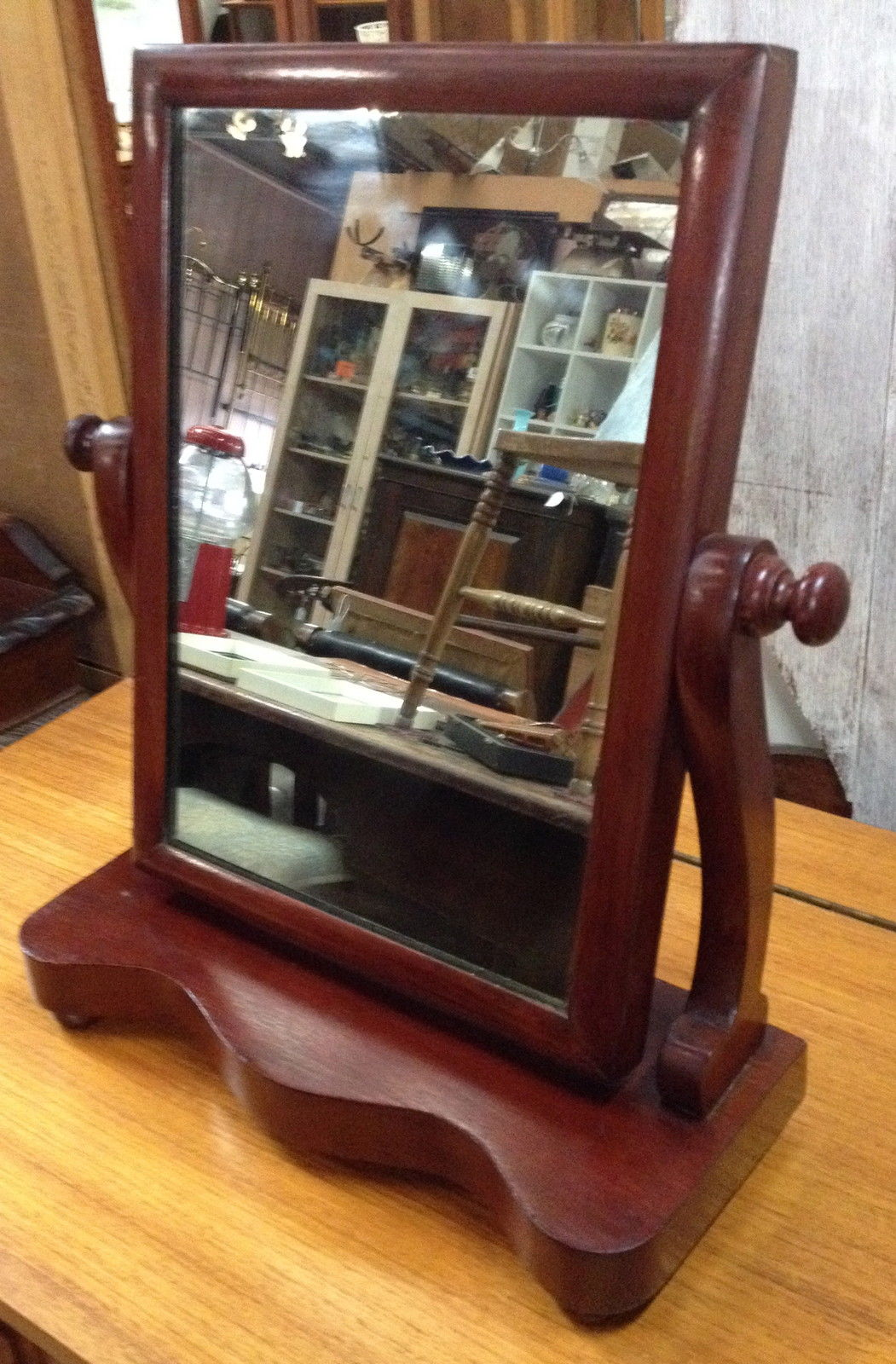 Antique Mahogany Swivel Shaving Dressing Table Mirror | Halsey Road Recyclers