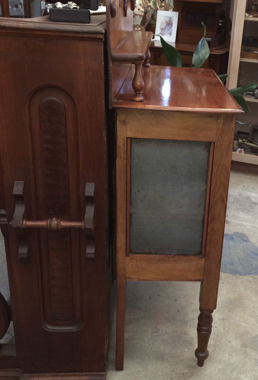 Antique Victorian Cedar Shield Fronted Chiffonier Meat Safe | Halsey Road Recyclers