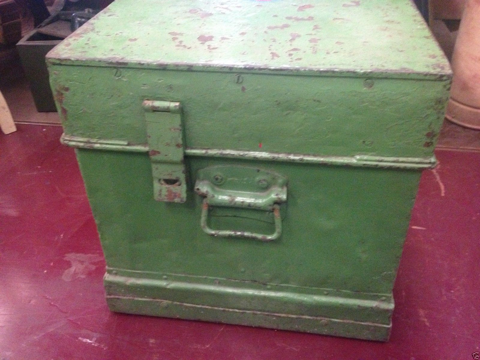 Industrial Vintage Green Medicine First Aid Cabinet Chest Trunk   Halsey Road Recyclers
