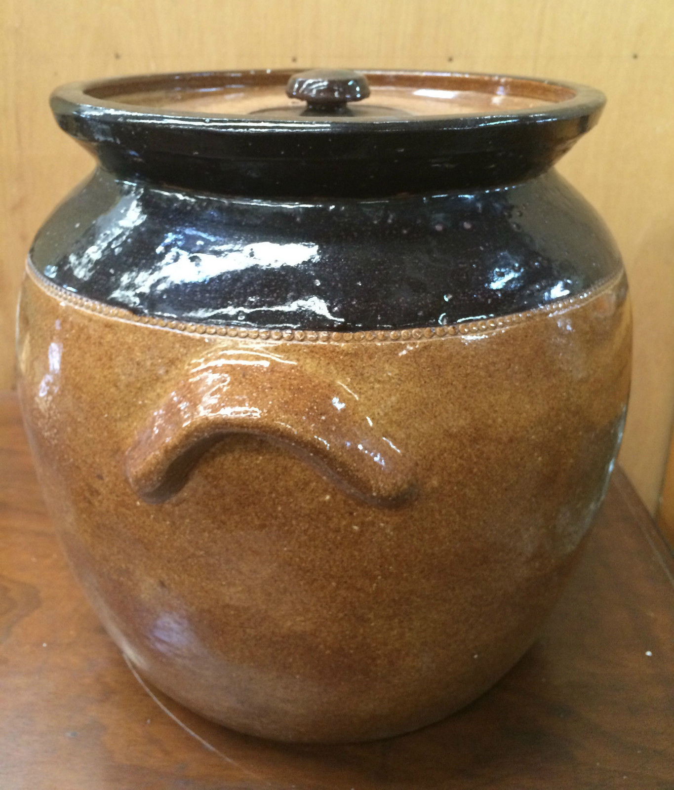 Pottery Bread Crock Stoneware | Halsey Road Recyclers
