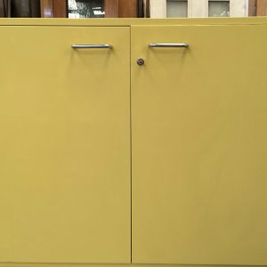 Under Bench Lockable 2 Door Cabinet Kitchen Laundry Cupboard Yellow 2 Pack | Halsey Road Recyclers