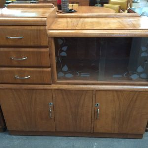 Vintage 2 Tier Sideboard Buffet Display Cabinet | Halsey Road Recyclers