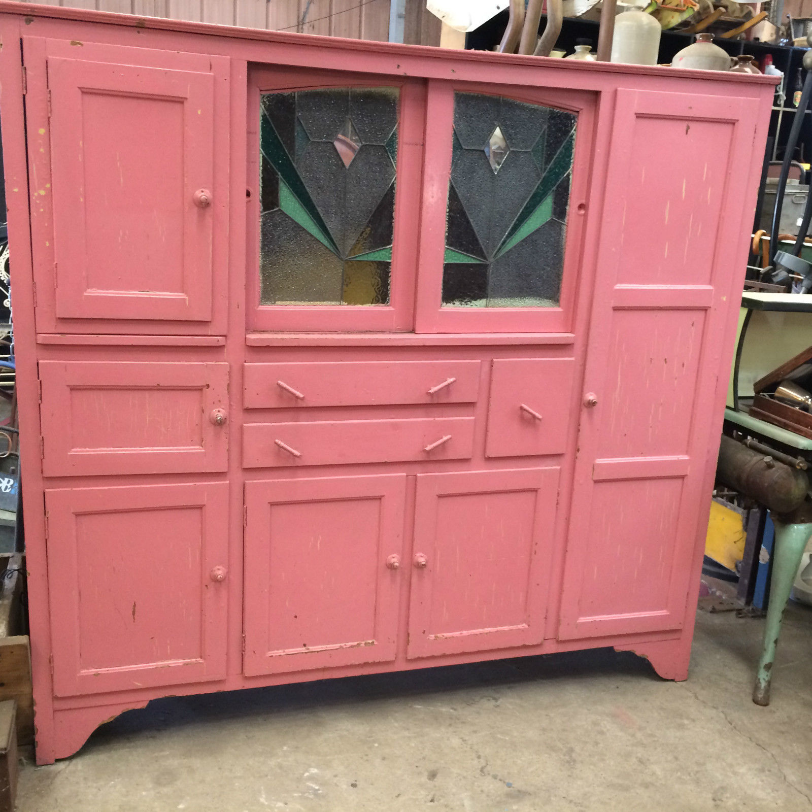 Vintage Shabby Distressed Rustic Kitchen Dresser Cupboard Cabinet | Halsey Road Recyclers