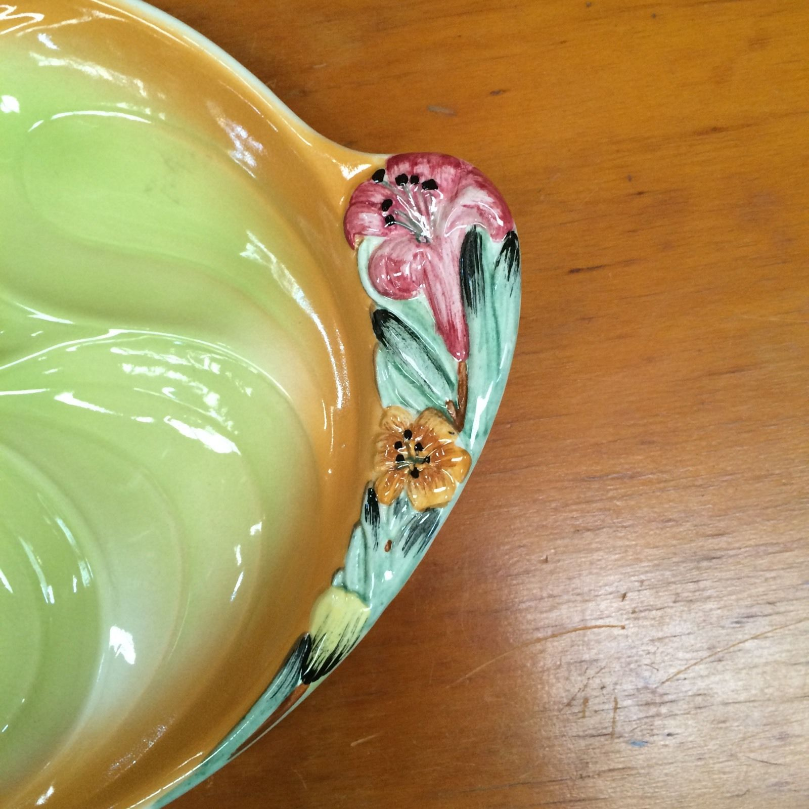 Vintage Staffordshire Pottery Hand Painted Shorter & Sons Platter | Halsey Road Recyclers