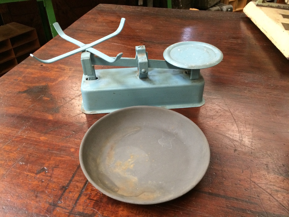 Vintage Kitchen Scales/Halsey Road Recyclers