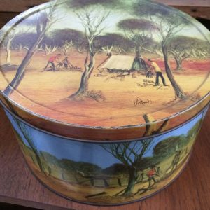 Vintage Collectable 1975 Arnott's Outback Tin