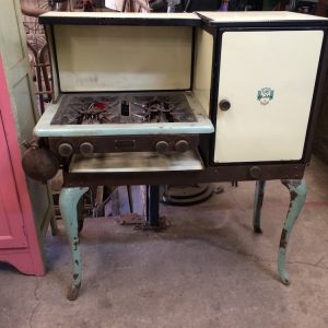 Vintage Aladdin Enamel & Cast Iron Liquid Fuel Stove & Oven|Melbourne|Halsey Road Recyclers