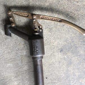 Vintage Wakefield Petrol Bowser Brass Pump |Melbourne|Halsey Road Recyclers