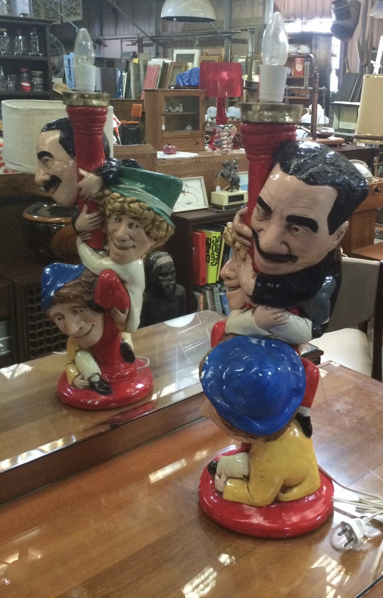 Vintage Collectable Marx Brothers Table Lamp |Melbourne | Halsey Road Recyclers
