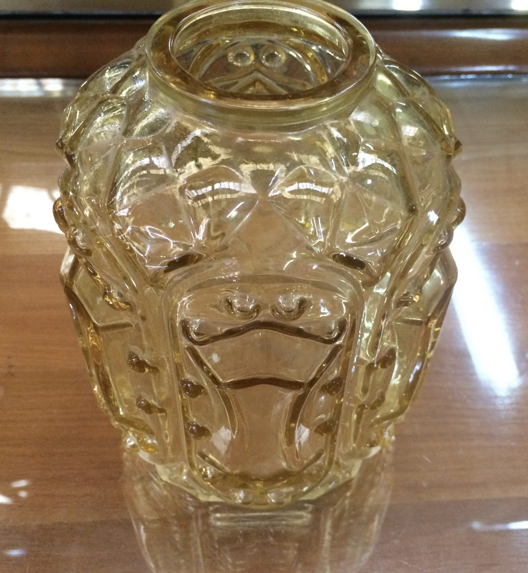 Vintage Retro Ceiling Light Shade Amber Glass | Melbourne | Halsey Road Reccylers