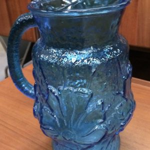 Retro Vintage Large Anchor Hocking Vibrant Blue Pitcher Jug | Melbourne | Halsey Road Recyclers