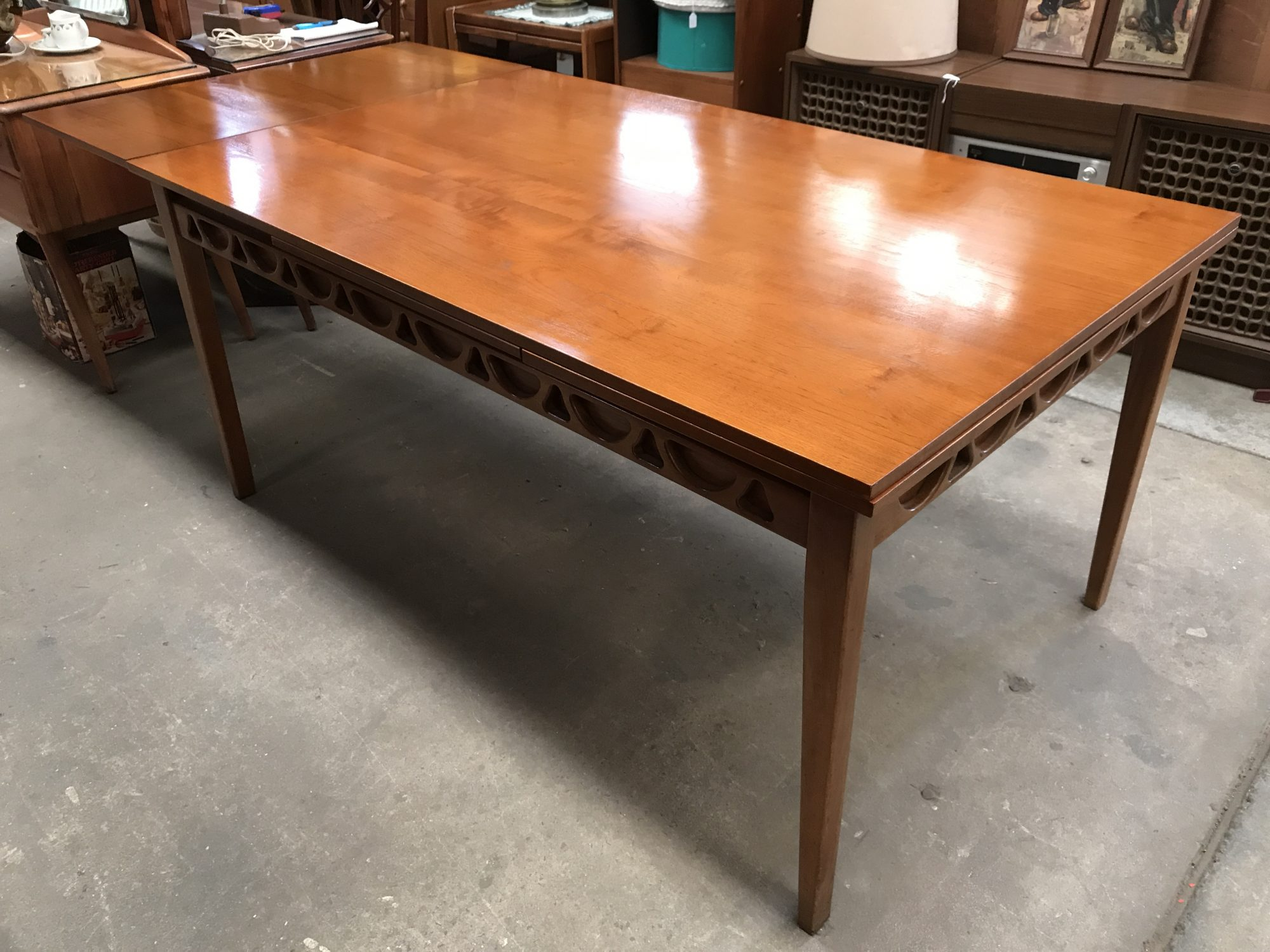 Avalon Retro Vintage Danish Design Teak Extendable Dining Table | Melbourne | Halsey Road recyclers