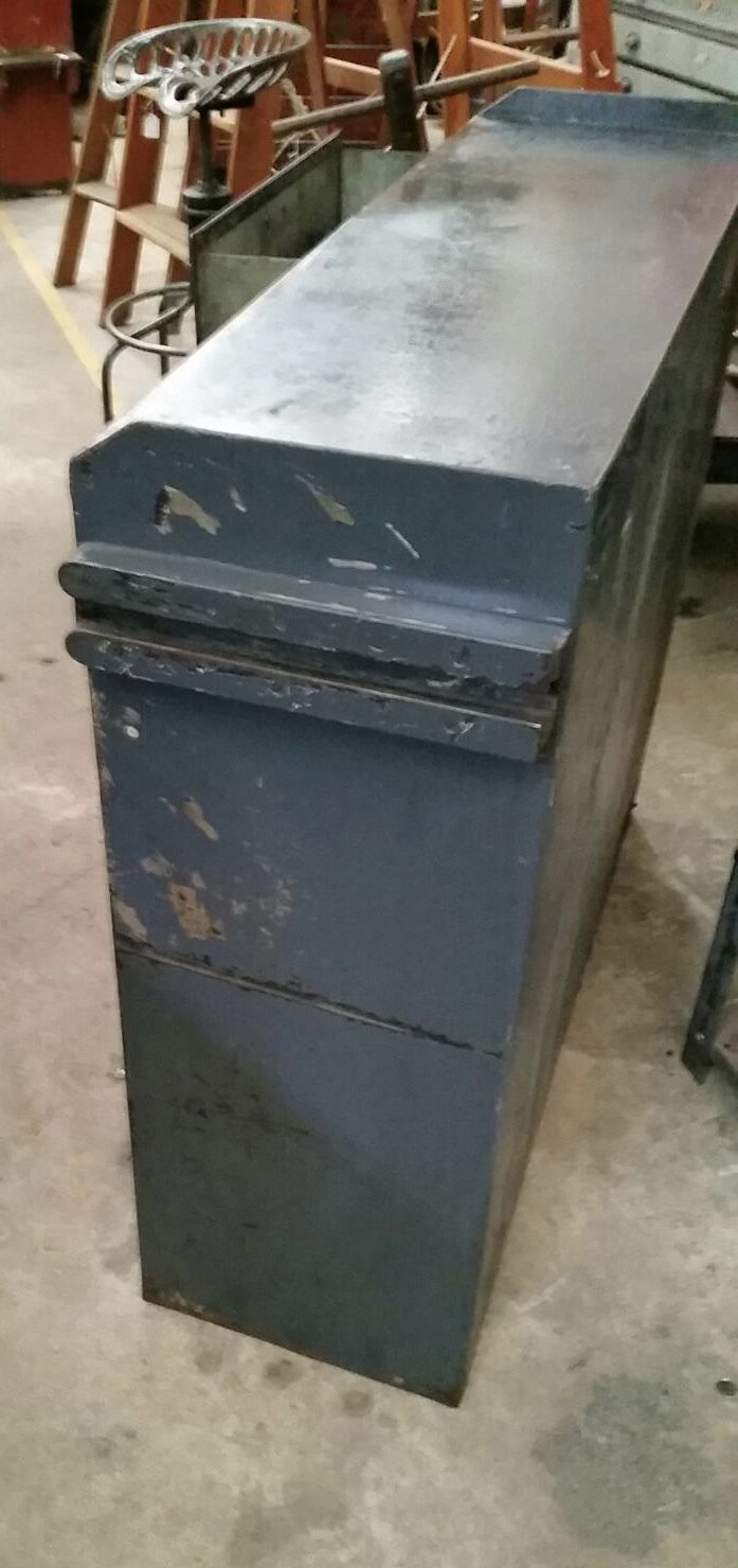 Industrial Vintage Steel Storage Cabinet With One Drawer Open Shelves | Melbourne | Halsey Road Recyclers