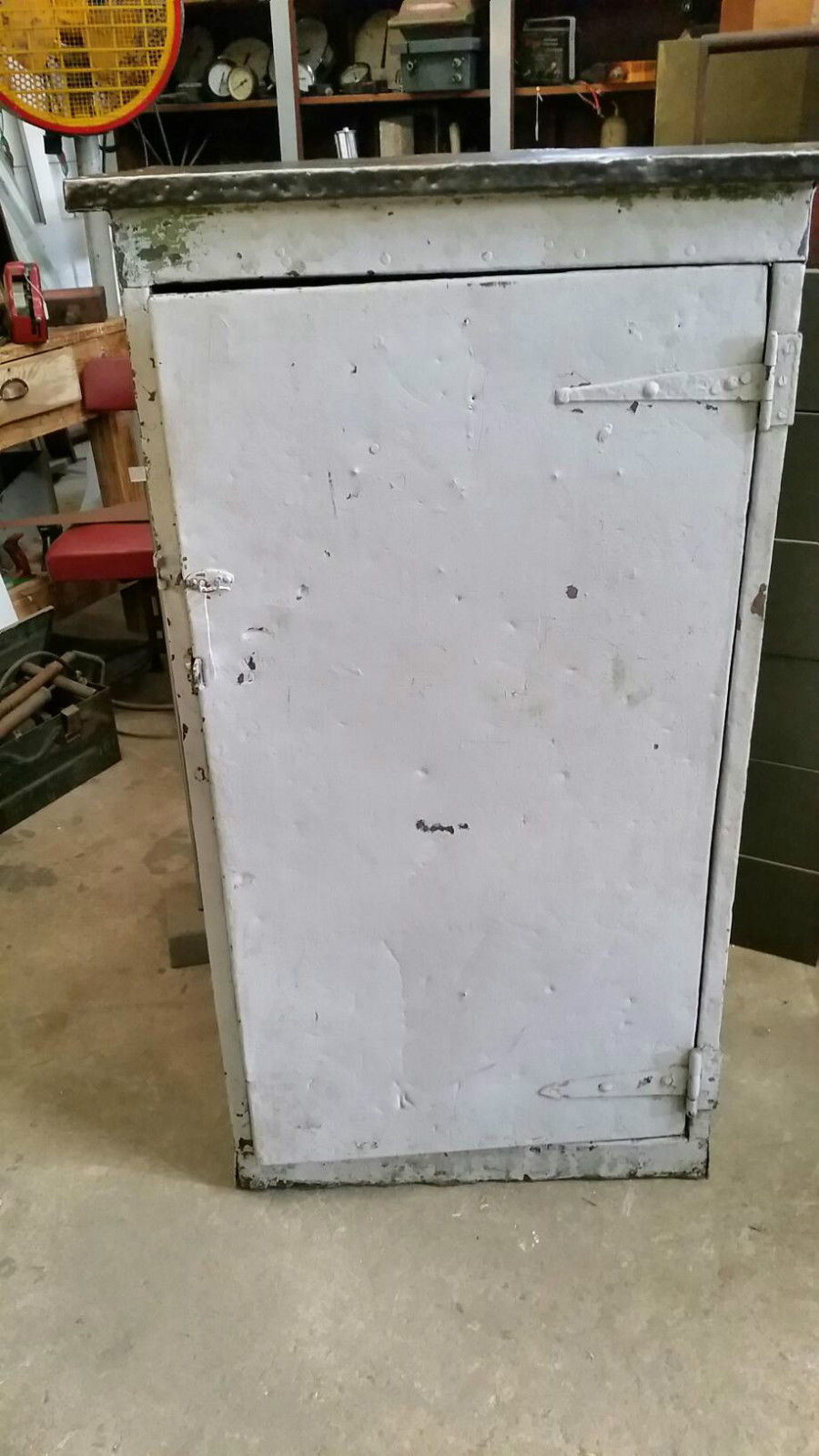 Industrial Vintage Timber & Metal Storage Cabinet With Timber Lined Door | Melbourne | Halsey Road Recyclers