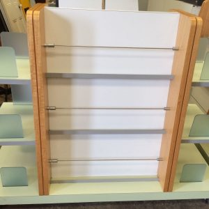 Library Double Sided Brochure Display Book Shelf Trolley On Castor Wheels | Melbourne | Halsey Road Recyclers