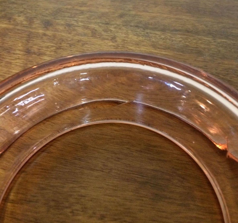 Vintage Pink Depression Glass Round Posie Vase | Melbourne | Halsey Road Recyclers