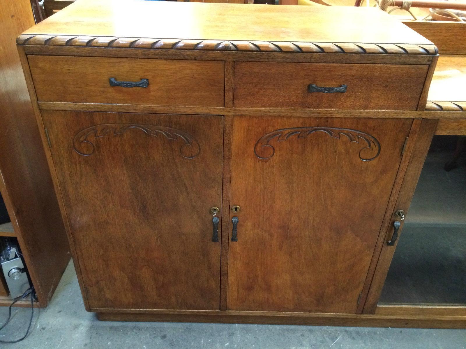 Antique Art Deco 2 Tier Sideboard Buffet | Melbourne | Halsey Road Recyclers