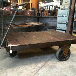 Industrial Vintage Timber Metal Trolley | Melbourne | Halsey Road Recyclers