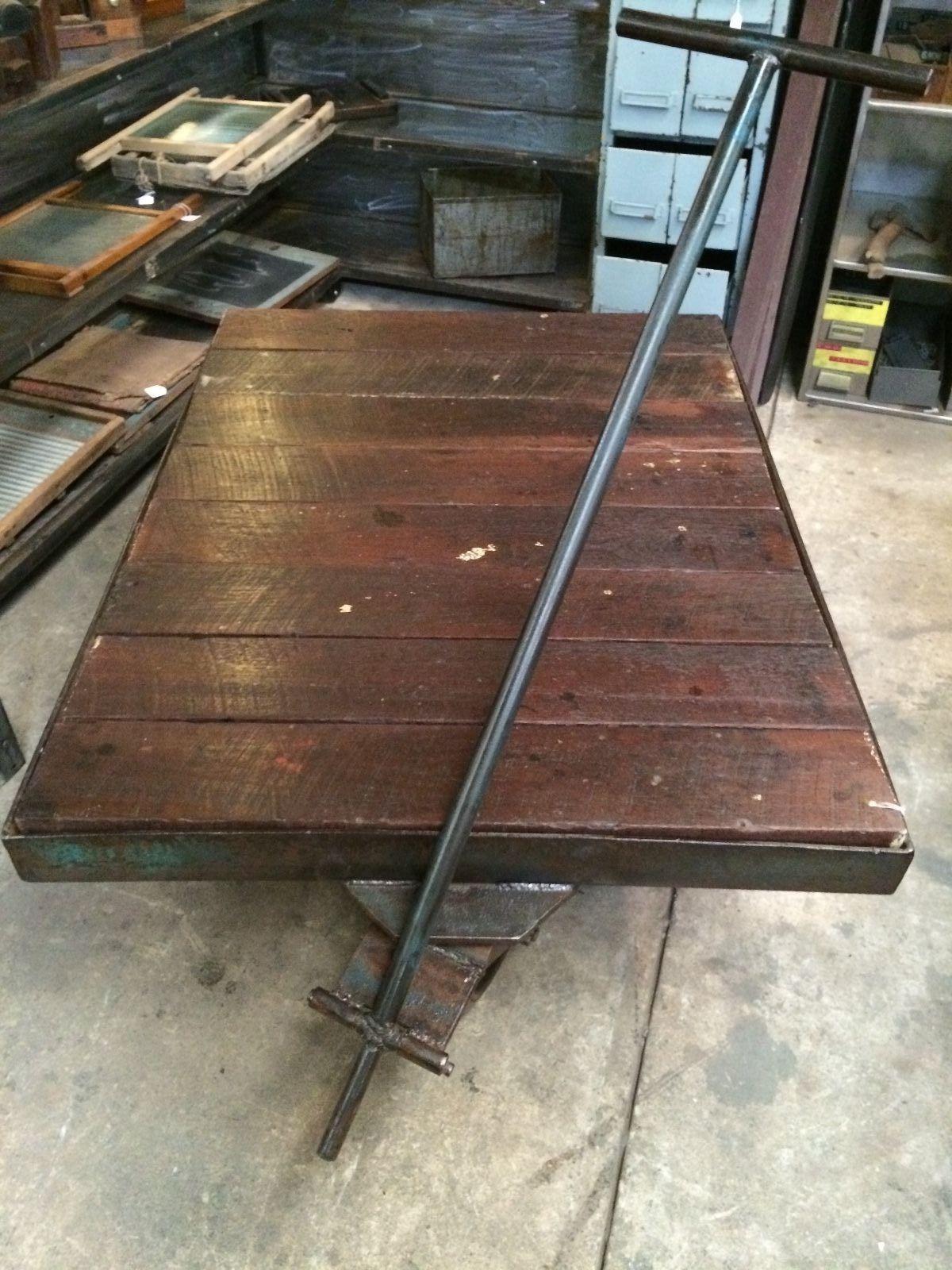 Industrial Vintage Timber Metal Trolley   Melbourne   Halsey Road Recyclers