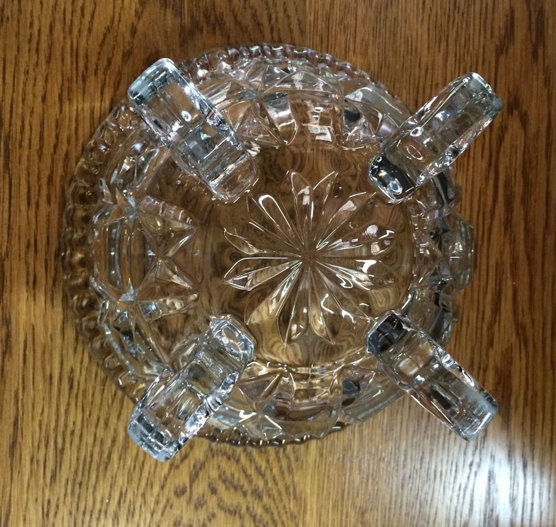 Vintage Art Deco Cut Glass Four Footed Bowl | Melbourne | Halsey Road Recyclers