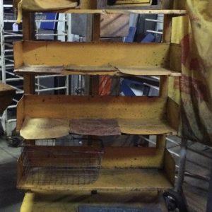 Industrial Vintage Metal Bookcase Kitchen Display Shelving Unit On Castor Wheels | Melbourne | Halsey Road Recyclers