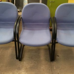 Set Of 3 Office Meeting/Visitor/Waiting Room Chairs | Melbourne | Halsey Road Recyclers