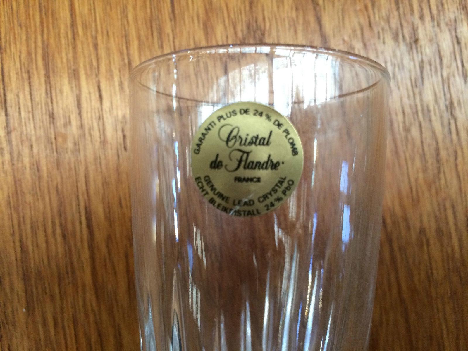 Set Of 3 Vintage Cristal De Flandre Crystal Champagne Glasses With Label   Melbourne   Halsey Road Recyclers