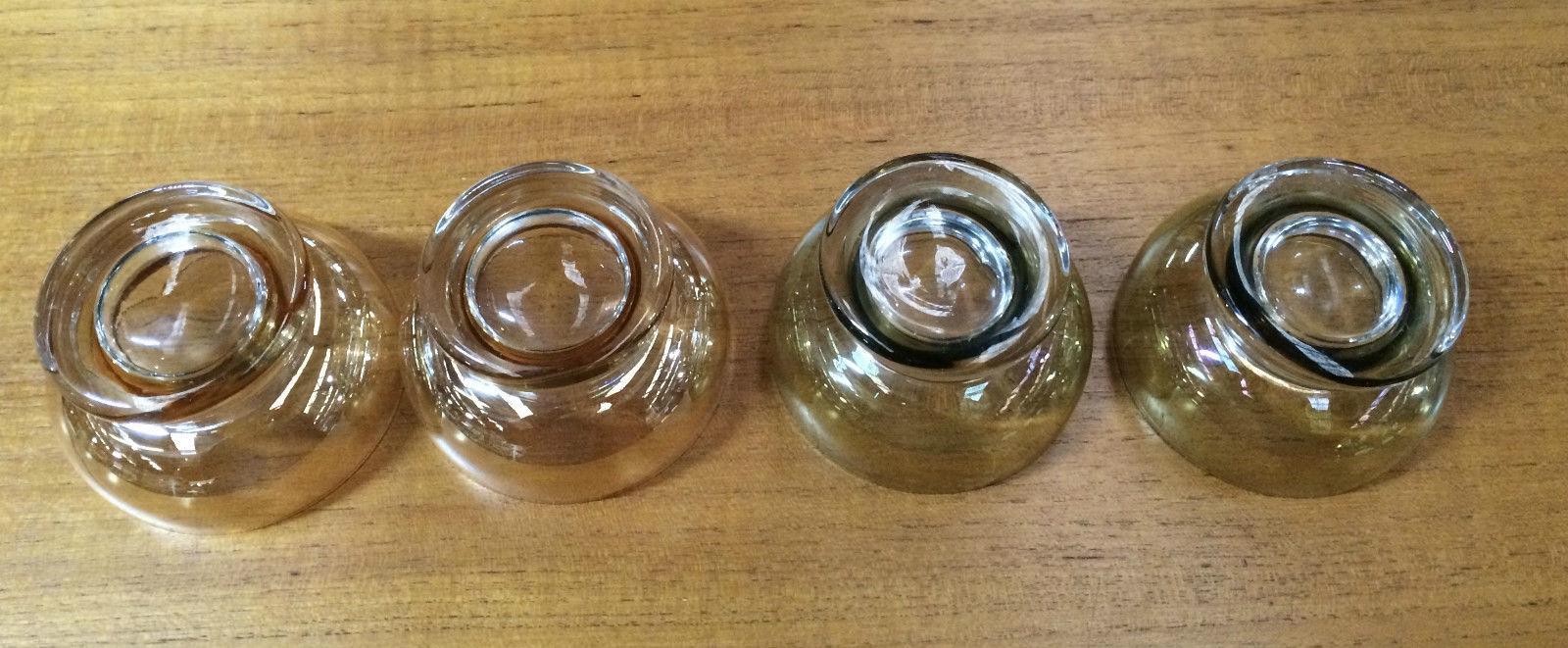 Set Of 4 Vintage Retro 50s Harlequin Lustre Ware Champagne Desert Glasses   Melbourne   Halsey Road Recyclers