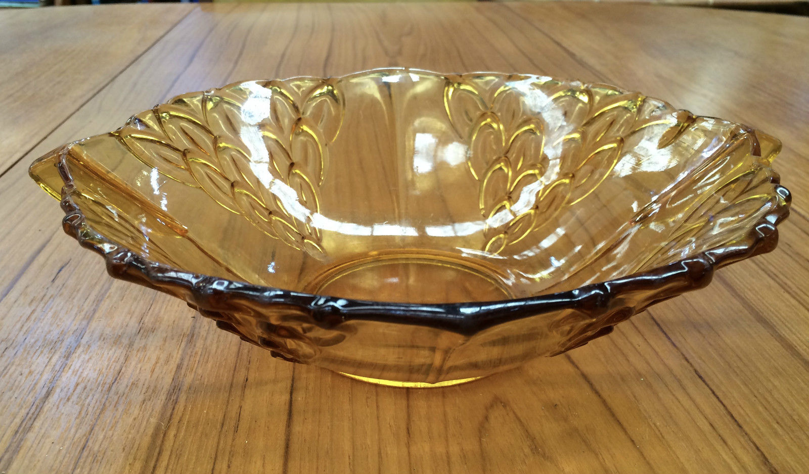 Vintage Amber Depression Glass Fruit Bowl With Handles | Melbourne | Halsey Road Recyclers