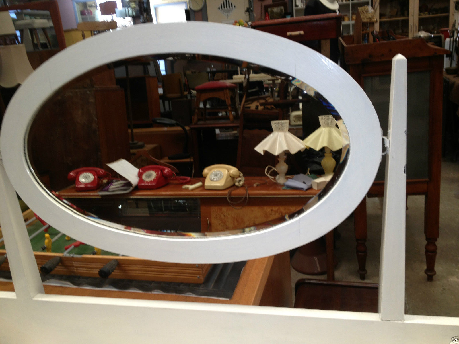 Vintage Shabby Chic Dressing Table With Oval Shaped Mirror | Melbourne | Halsey Road Recyclers