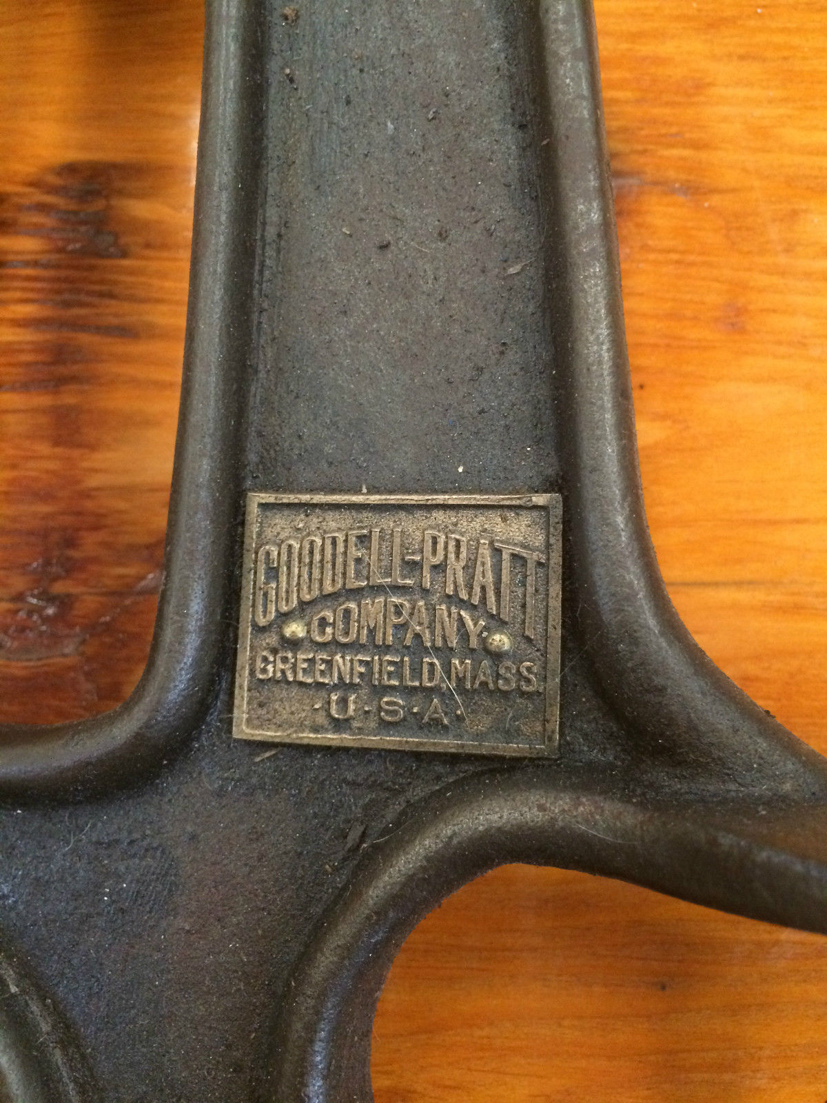 Antique Cast Iron Goodell-Pratt Hand Crank Drill Press | Halsey Road Recyclers