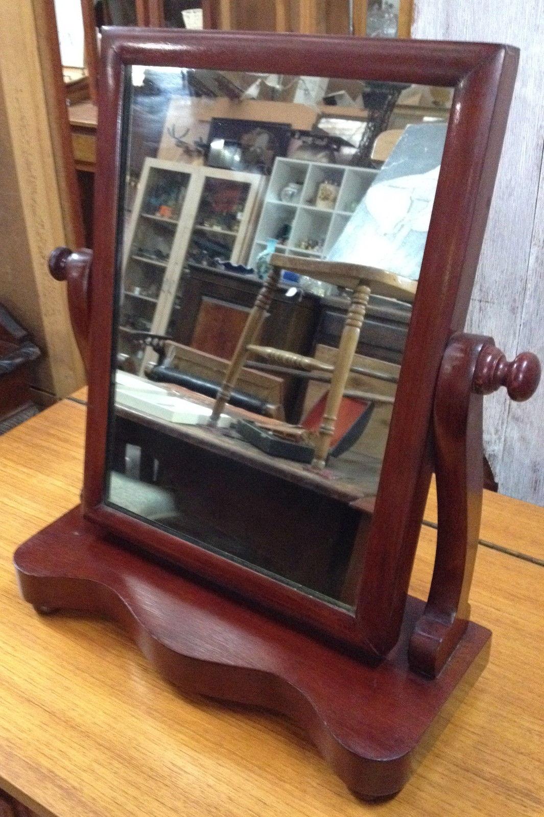 Antique Mahogany Swivel Shaving Dressing Table Mirror | Halsey Road Recyclers