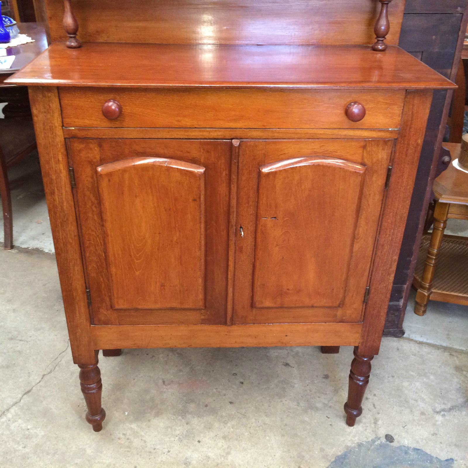 Antique Victorian Cedar Shield Fronted Chiffonier Meat Safe   Halsey Road Recyclers