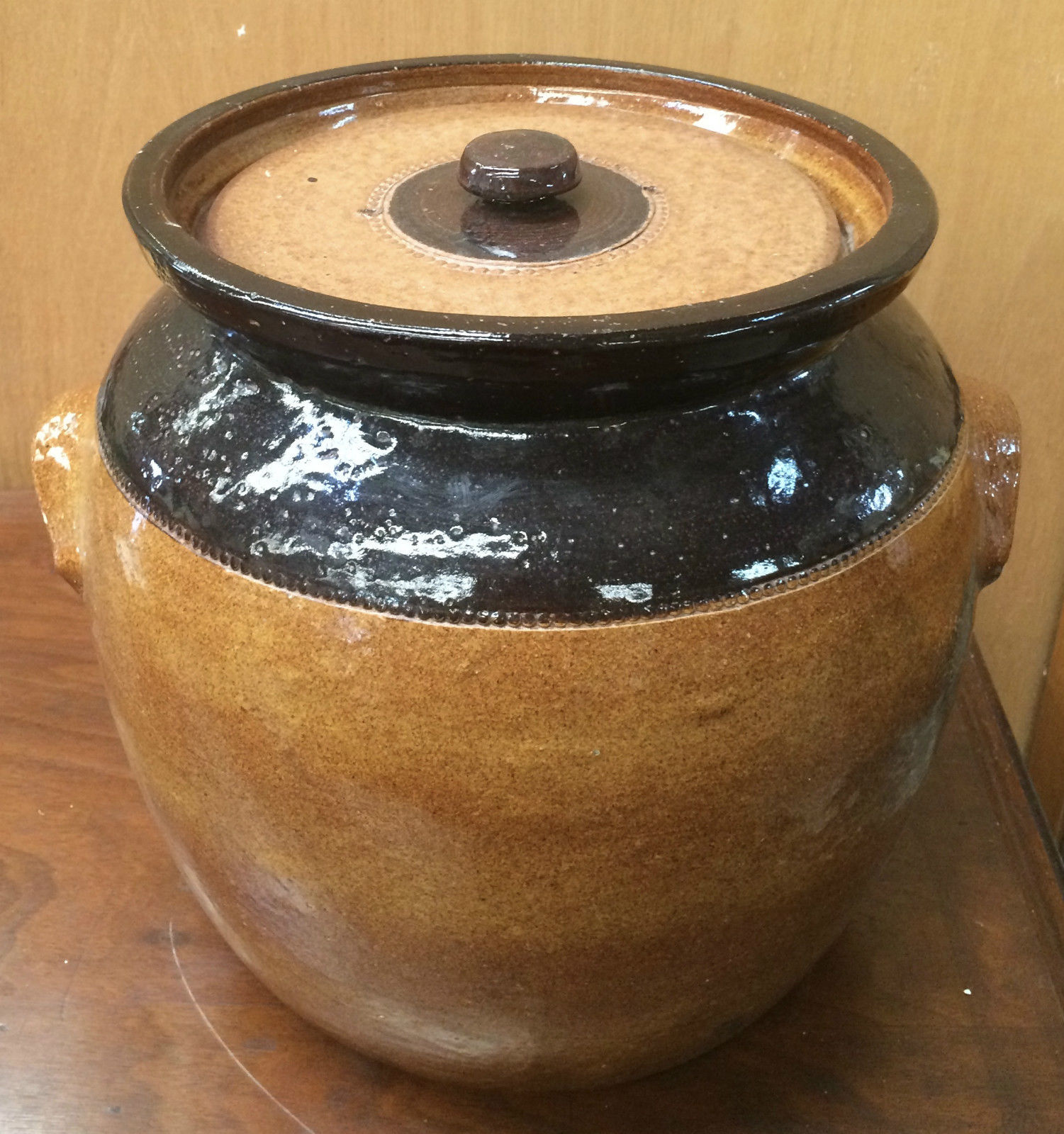 Pottery Bread Crock Stoneware   Halsey Road Recyclers