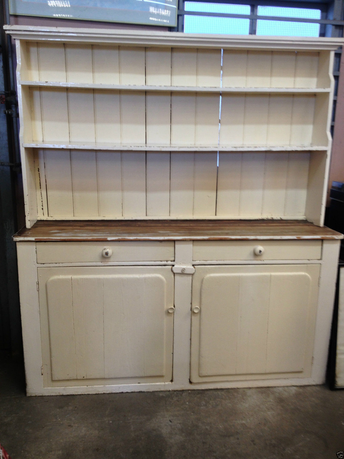 Victorian Shabby Chic Rustic Country Kitchen Dresser Hutch | Halsey Road Recyclers