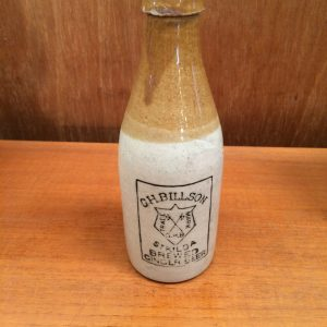 Vintage Stoneware Pottery G.H. Billson St Kilda Brewed Ginger Beer Bottle | Halsey Road Recyclers