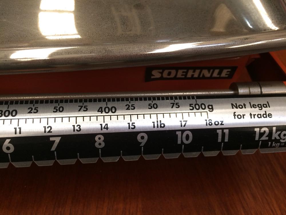 Retro Set of Soehnle Kitchen Scales/Halsey Road Recyclers